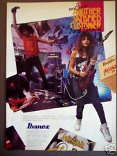 1989 Reb Beach of Winger photo Ibanez Guitar ad