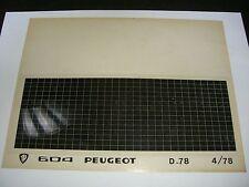 Ersatzteil Mikrofilm Planfilm Microfiche Peugeot 604 v. April 1978