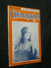 OCT 21, 1921 FRENCH CINEMAGAZINE Uncut Complete 29 pgs