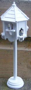 White Painted Wood Dovecote & 2 Birds Garden Tumdee 1:12 Scale Dolls House 47