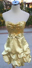 NWT WINDSOR $85 Yellow Juniors Cocktail Prom Dress 7