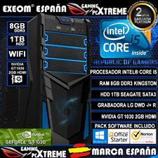 Sobremesa Intel i5 8GB DDR3 1TB GT1030 2GB WIFI Windows 10 + Ordenador Gaming Pc