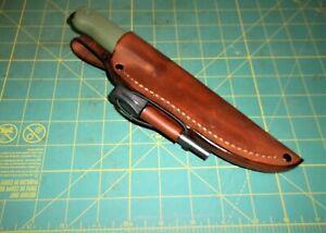 Custom hand Made Leather Sheath Fits Condor Terrasaur, Ferro Rod, Sheath Only