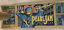 Pearl Jam Fenway Boston Variant Print Poster Brad Klausen Signed #'d