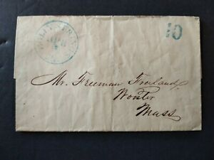 Mississippi: Holly Springs 1848 (circa) Stampless Cover, Blue CDS & 10c Rate