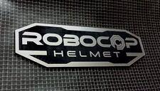 CUSTOM ROBOCOP HELMET DISPLAY PLACARD PROP