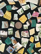 Broken China Mosaic Tiles Fine English Bone China Tiles 80+ & Cup Holder