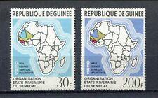 27263) GUINEA 1970 MNH** Nuovi** Map of Africa 2v