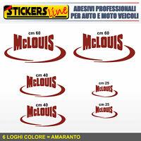 Kit completo 6 adesivi per camper MCLOUIS loghi mc louis caravan roulotte M.4