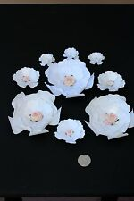 """4""""-1"""" Set of Paper Flowers for Wall Décor,Backdrops, Weddings,Showers decoration"""