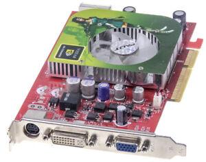 Carte Graphique Palit 6600GT AGP8X Geforce 6600 Gt AGP 128MB GDDR3