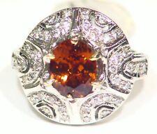 Vintage Victorian 18K Gold Natural Zircon Diamond Anniversary Ring 3.01CT Deco