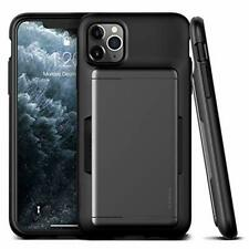 iPhone 11 Pro Max Case Hybrid Wallet Sliding Card Slot Shockproof Cover TPU Gray