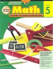Advantage Math Grade 5 By Barbara Irvin Lot of 2 Skill Building Home  and School