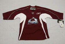 M147 New NWT REEBOK Colorado Avalanche Maroon Embroidered Jersey YOUTH Sizes