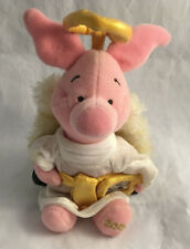 "Winnie the Pooh - Angel Piglet 2000 Disney Bean Bag Plush / Stuffed Animal 8"""