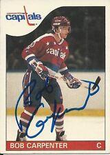 Signed Bob Carpenter Washington Capitals 85-86 O-PEE-CHEE  Hockey Card #26