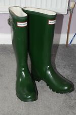 Hunter/Huntress Wellies, size 5, green ,good condition.