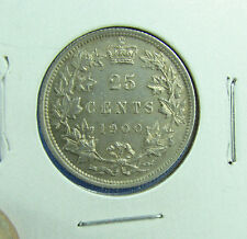 Canada 1900 Canada 25 cents about unc AU +
