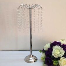 Wedding Crystal Floral/Feather Ball/Flower Ball Stand - Silver 20 inch New!!!