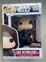 Luke Skywalker Hooded Funko Pop Vinyl New in Mint Box + SWC sticker + Protector