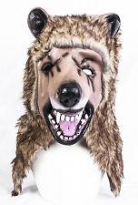 Furry Bear Mask Teddy Grizzly Latex Animal Fancy Dress Halloween Stag Night