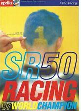 APRILIA SR 50 RACING 97 WORLD CHAMPION  PROSPECTUS .BROCHURE en FRANCAIS 1998