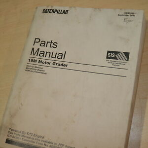 CAT Caterpillar 16M Motor Grader Parts Manual Book catalog spare R9H Series list