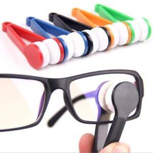 Glasses Eyeglass Sunglasses Microfiber Cleaner Brush Random color