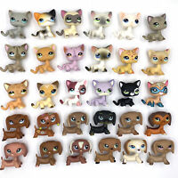 10 Pcs/lot Rare Littlest pet shop lot cats and DACHSHUND dogs LPS toy girls toys