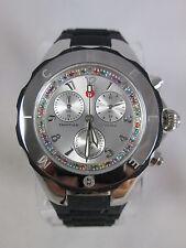 NEW Michele Black Tahitian Jelly Bean Topaz Carousel Watch MWW12F000080 + BONUS