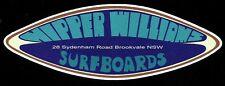 NIPPER WILLIAMS 1970s Surfboard Manufacturer NSW Sticker Decal LONGBOARD Surfing