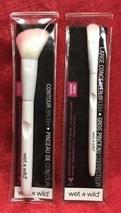2- Wet N Wild CONTOUR & CONCEALER BRUSH Cruelty/Vegan Free Pink White Face Brush