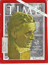Paul Schweitzer Autographed on Cover (only) of Time Magazine Psa Cert