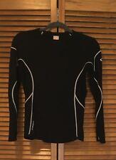 ICEBREAKER GT 200 Black Merino Wool LS Shirt Base Layer Women's Small EUC! Run