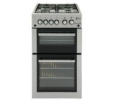 FLAVEL MLB51NDS Gas Cooker Silver 50cm LPG Option Double Cavity A 03