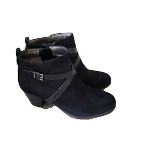 Life Stride Black Ankle Boots Size 11