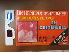 Um Negative & Uma Mulher 45 variacoes de Amor Friedrich KAPEL 3 dimensoes Oculos 3d