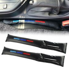 For BMW series Leather M-color Car Seat Gap Pad Fillers Spacer Storage Slot Plug