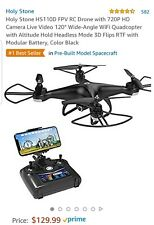 Holy Stone Hs110D Fpv Rc Drone with 120° Wide-angle 720P Hd Wifi Camera Rtf App