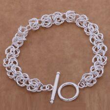 925 Sterling Silver Bracelet Ellipse-Shaped Kpbr4