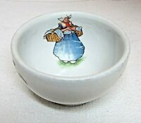 """Victorian Childs Bowl Or Cup Skater Dutch Girl Ironstone 3 3/4 x 2 1/8"""" T51"""