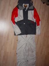Burton Snowboardanzug (Jacke/Hose), Gr. S, Dunkelgrau, Rot, Grau