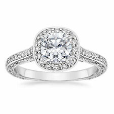 Gold Wedding Rings Size 5 6 7 8 1.35 Ct Diamond Engagement Ring 14K Solid White