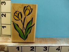 embossing arts tulip flowers rubber stamp 2B
