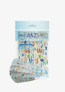 A&Z MED Kindermasken 10er Pack, Einweg Mund- Nasenschutz CE OVP