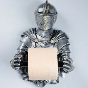 Silver Knight Toilet Paper Holder Wall Mounted Toilet Paper Roll Holder