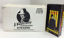 Factory Case--1988 A Nightmare On Elm Street Stickers(12 Boxes x48 Packs)-Value!