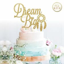 Gâteau Smash cake topper, baby shower paillettes Cake Topper boy girl Dream Big 1st