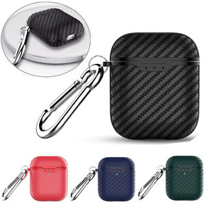 For Apple AirPod 1&2 Case Carbon Fiber TPU Cover Shockproof Charging Slim Case